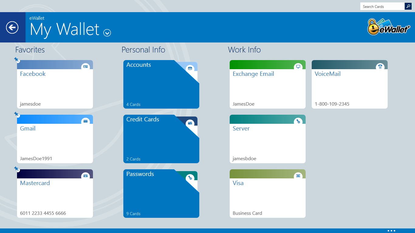 eWallet for Windows Store